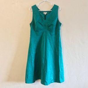 Merona Kelly Green Sleeveless Sheath Dress 14